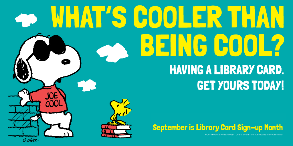 What's cooler than being cool/ Having a library card. Get yours today!