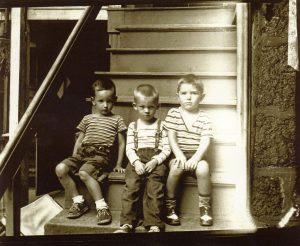 3 boys, 12 Castle Rock Street, Dorchester, 1950. Contributor: Donna Mulholland.